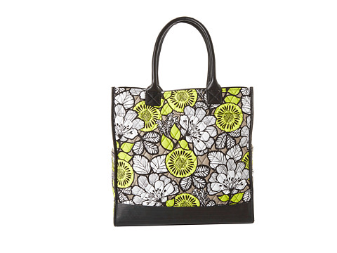 Vera Bradley - Boxy Tote (Citron with Black Trim) Tote Handbags