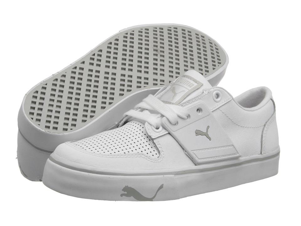Puma Kids - El Ace 2 Jr (Little Kid/Big Kid) (White/Gray Violet) Kids Shoes