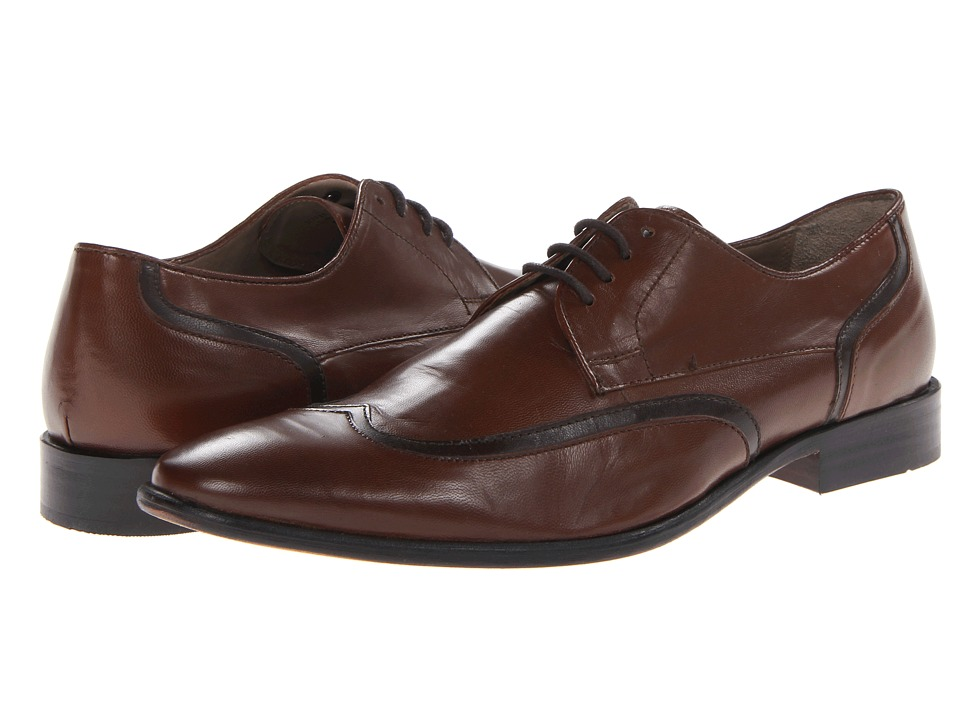 Giorgio Brutini - 24917 (Tan/Brown) Men's Lace Up Wing Tip Shoes