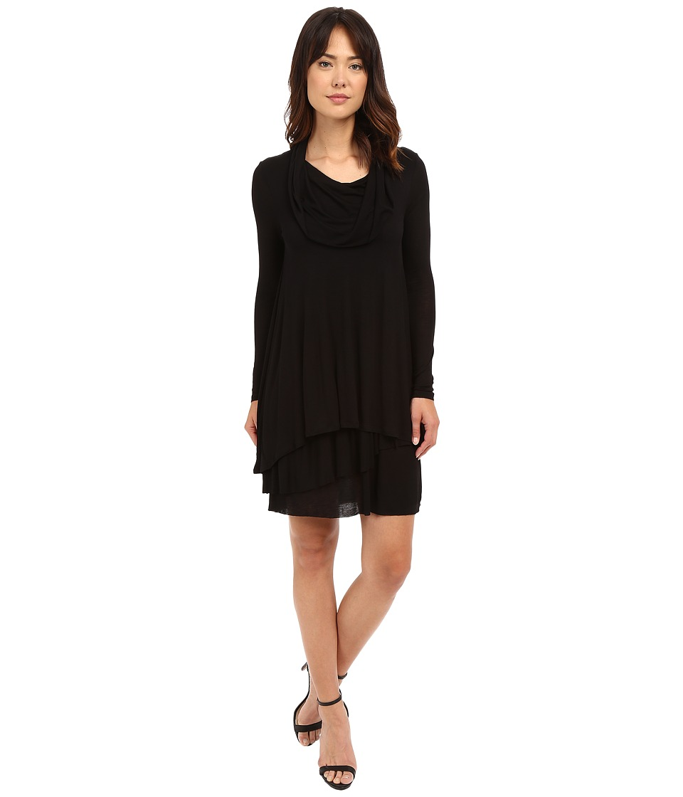 kensie - Cowl Neck Dress (Black) Women's Dress