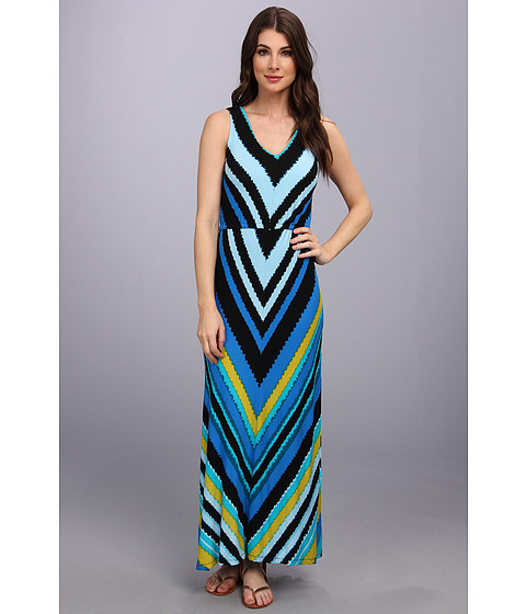 Calvin Klein - Tiered Maxi (Multi) Women's Dress