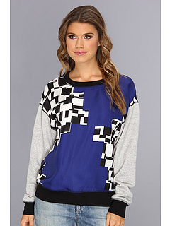 SALE! $89.99 - Save $108 on Trina Turk Livingston Sweatshirt (Ultramarine) Apparel - 54.55% OFF $198.00