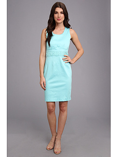 SALE! $49.99 - Save $88 on Calvin Klein Crochet Inset Dress (Aqua) Apparel - 63.78% OFF $138.00