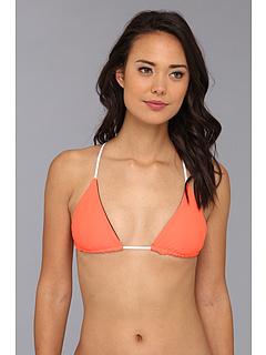 SALE! $36.99 - Save $67 on Basta Raglan Reversible Triangle Bikini Top (Noir Aussie Coral) Apparel - 64.43% OFF $104.00