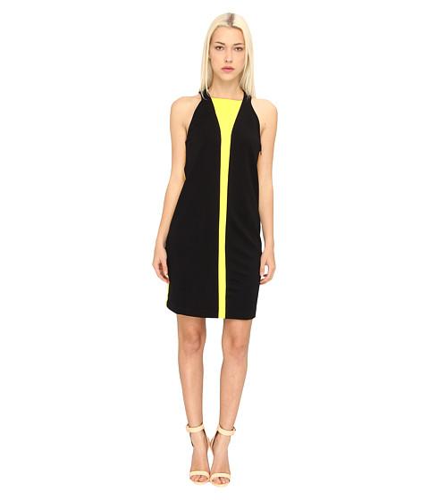Versace Collection Colorblock Shift Dress (Nero) Women's Dress