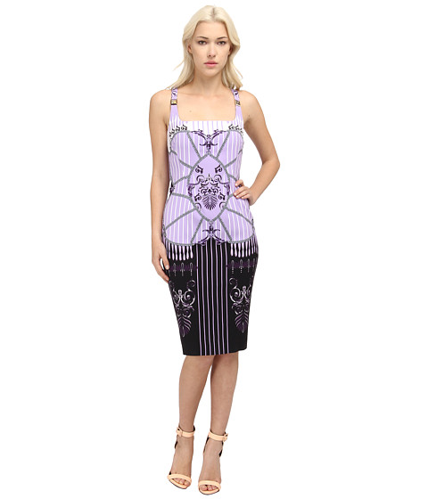 Versace Collection - Printed Sheath Dress (Lavander/Stampa) Women's Dress