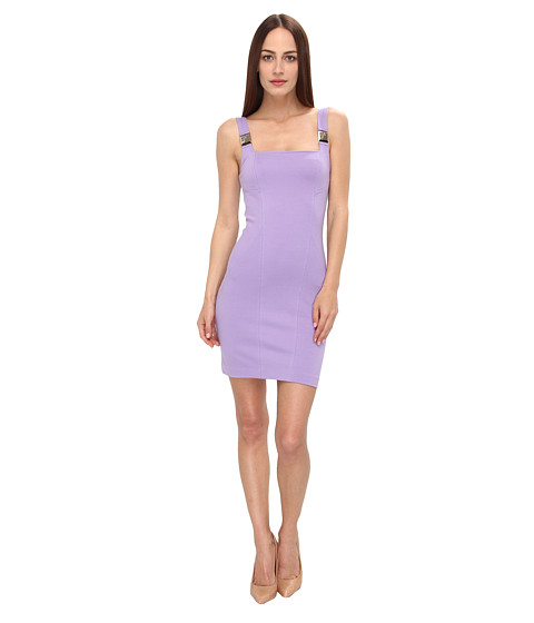 Versace Collection - Square Neck Fitted Dress (Lavander) Women