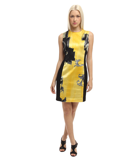 Versace Collection - Printed Shift Dress (Limone/Stampa) Women's Dress