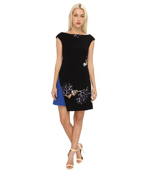 Versace Collection Asymmetrical Hem Dress (Nero/Stampa) Women's Dress