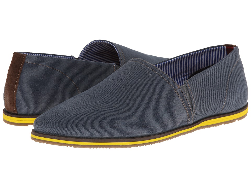 Ben Sherman - Marx Canvas (Navy/Brown) Men's Slip on Shoes