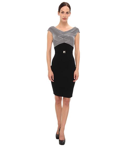 Versace Collection Striped Bodice Knit Dress (Bianco) Women's Dress