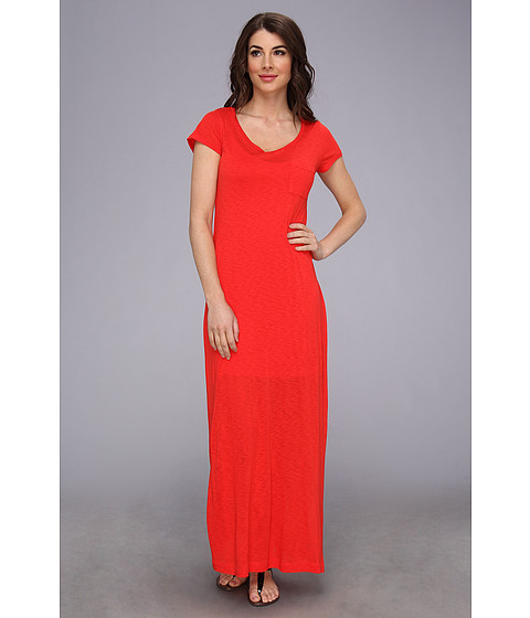 Splendid - T-Shirt Maxi Dress with Side Slit (Fiesta) Women's Dress