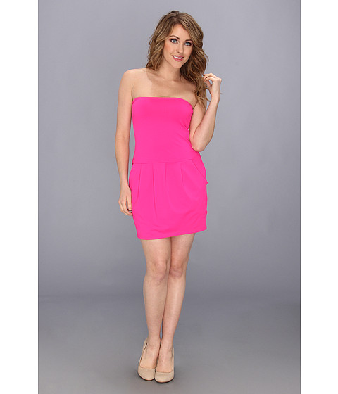 Susana Monaco - Tube Pleat Dress (Pink Glo) Women