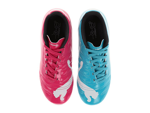 Puma Kids - evoPower 4 R HG Jr (Little Kid/Big Kid) (Beetroot Purple/Bluebird/White) Kids Shoes