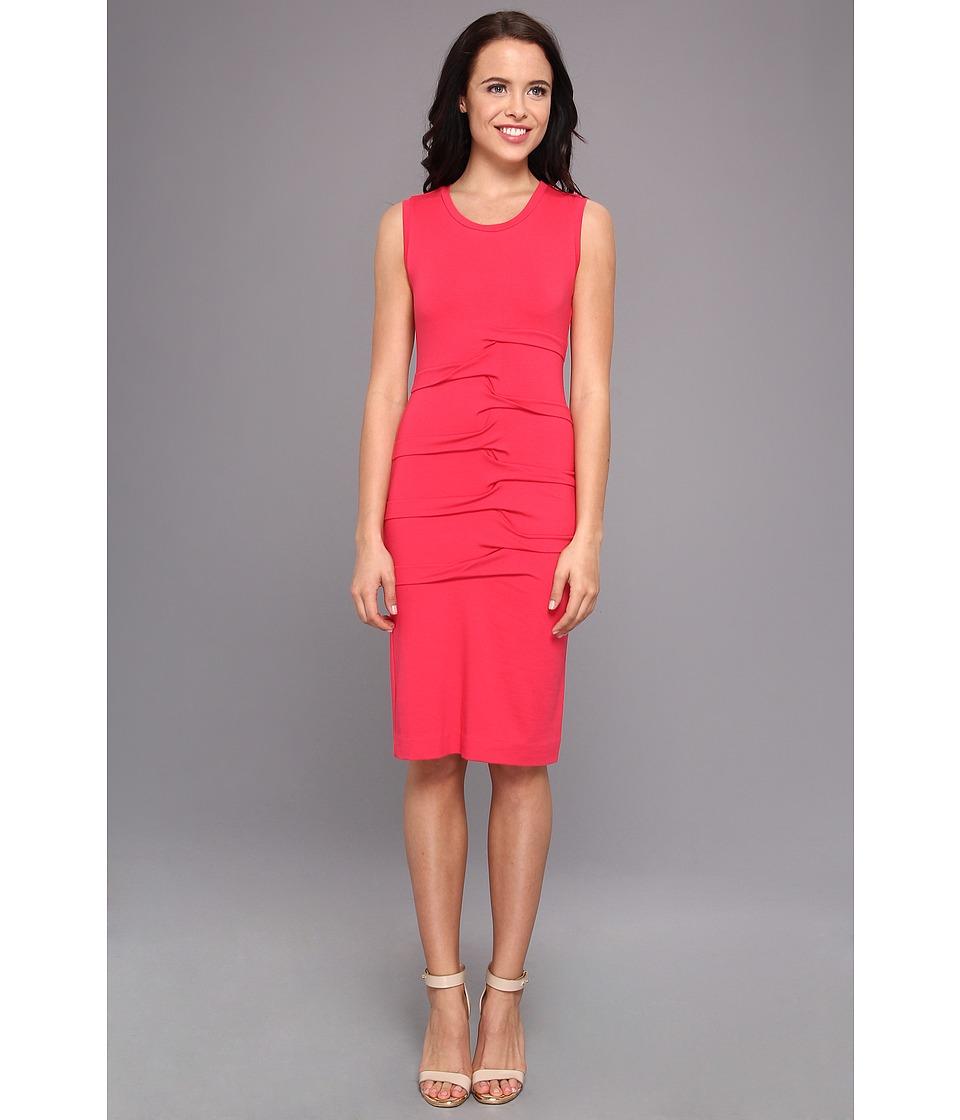 Nicole Miller Parker Jersey Dress Womens Dress (Pink)