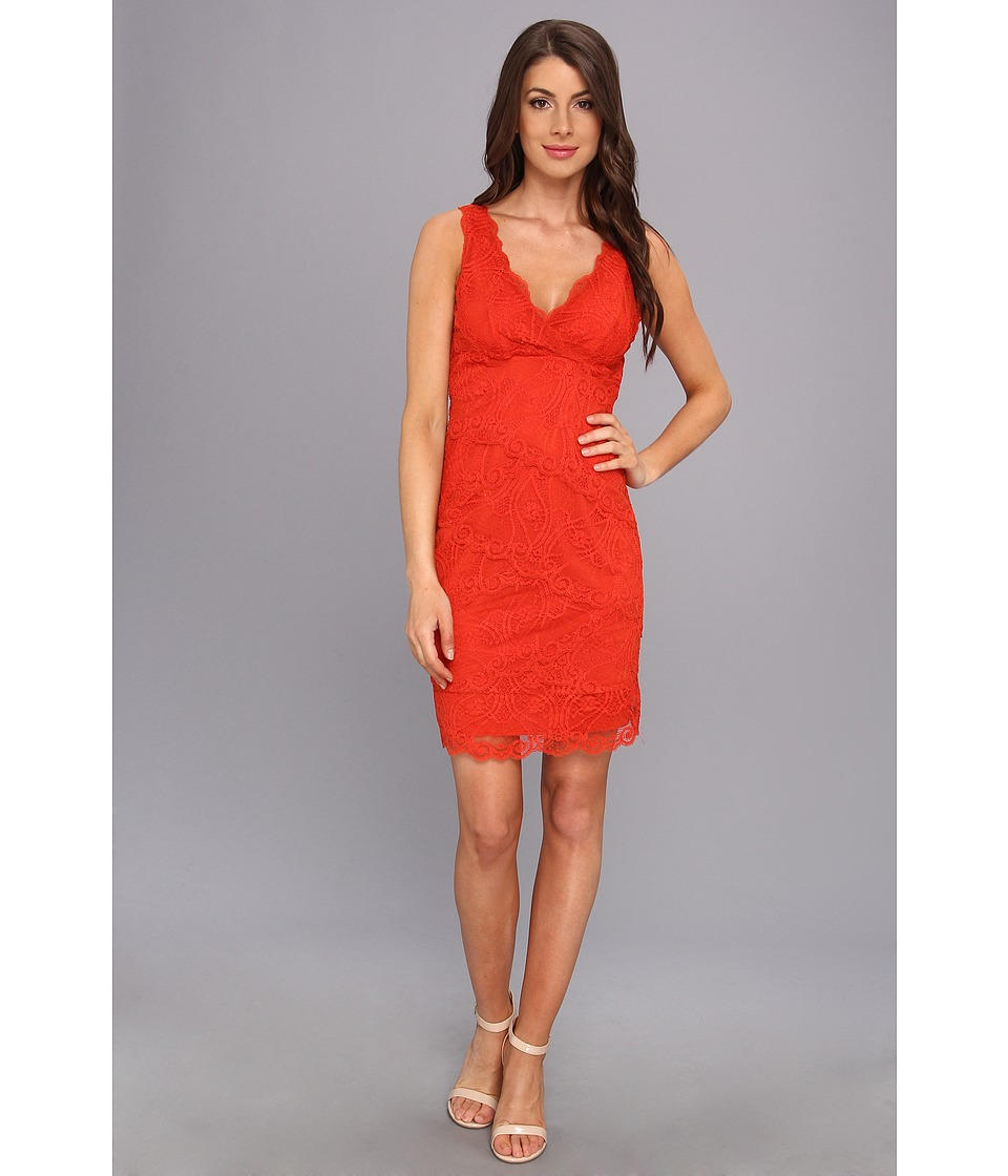 Nicole Miller Marion Lace Dress (Melon) Women