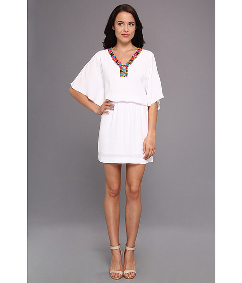 Nicole Miller - Pebble Crepe Dress (White) Women