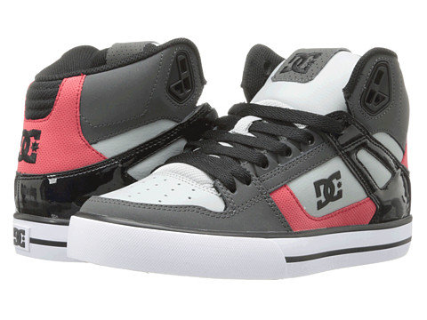 DC - Spartan Hi WC (Black/Athletic Red/White) Men's Skate Shoes