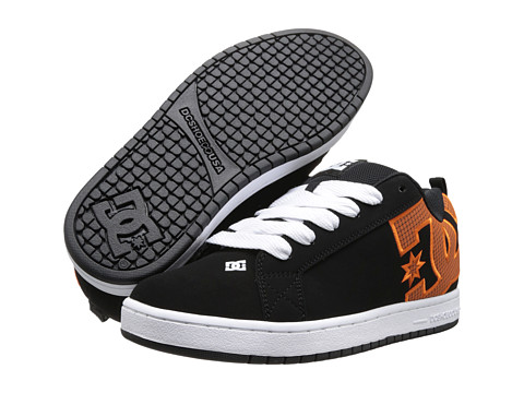 DC - Court Graffik SE (Orange) Men's Skate Shoes