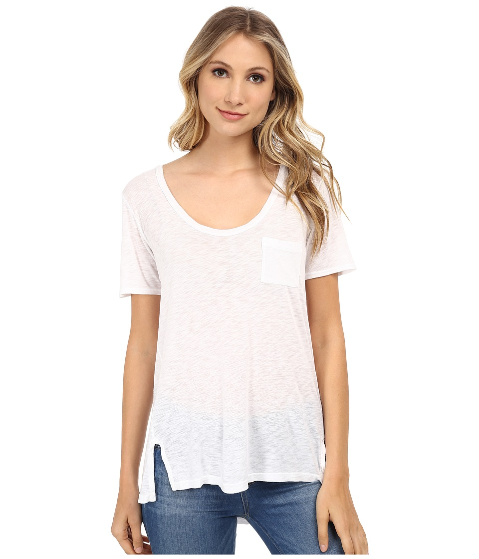 Splendid - Slub Tees Tee (White) Women's T Shirt