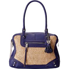 Jessica Simpson Katia Satchel (Navy) Satchel Handbags