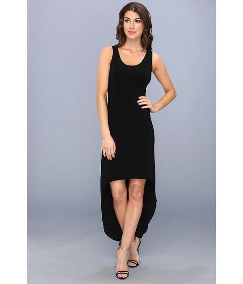 KAMALIKULTURE by Norma Kamali - Sleeveless Tank High-Low Dress (Black) Women
