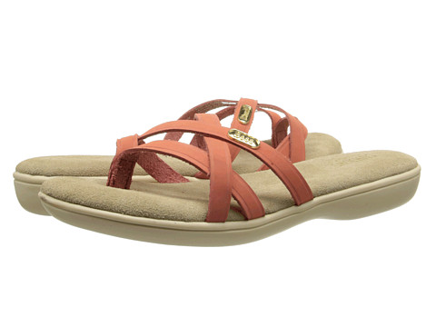 Bass Sharon (Hot Coral Nubuck) Women's Sandals