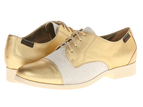 Bass - Terri (Gold/Natural/Metallic/Canvas) Women's Lace up casual Shoes