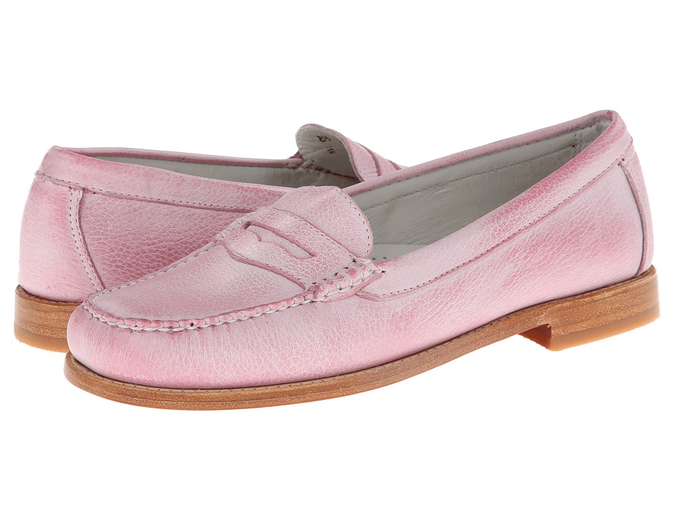 Bass - Wayfarer (Pink Panther Tumbled White Brush Off) Women's Slip on Shoes