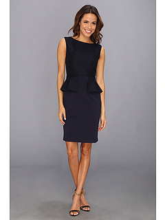 SALE! $221.99 - Save $146 on Elie Tahari Maura Dress (Navy Multi) Apparel - 39.68% OFF $368.00