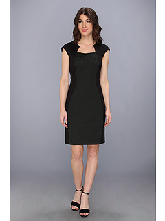 SALE! $174.99 - Save $173 on Elie Tahari Aiden Dress (Black Green) Apparel - 49.72% OFF $348.00