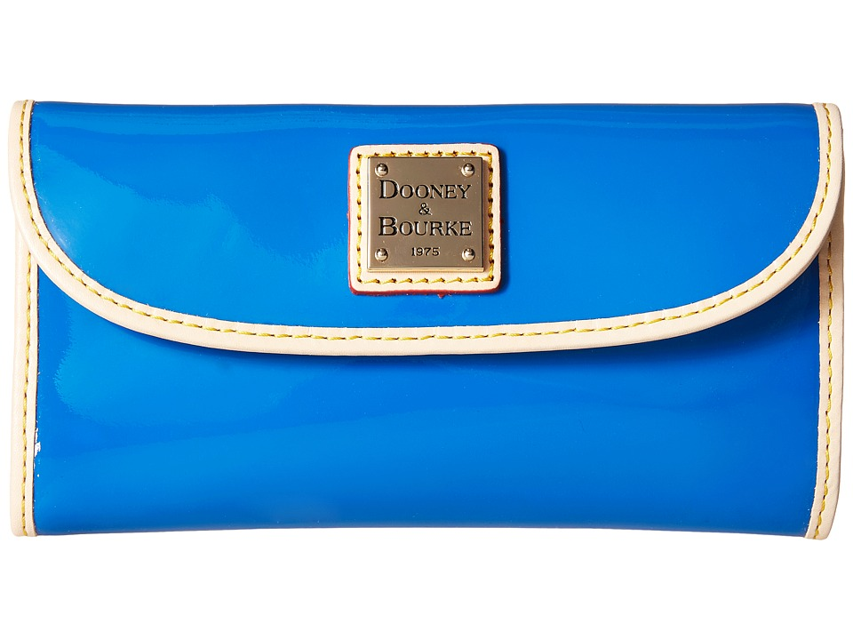 Dooney & Bourke - Patent Continental Clutch (Ocean w/ Nat Trim) Clutch Handbags