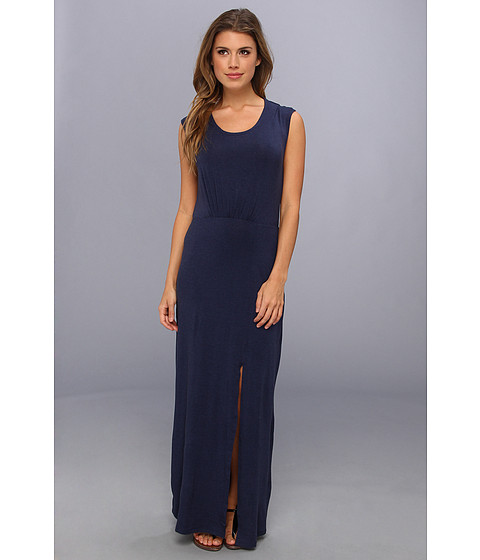 Splendid - High Slit Maxi Dress (Navy) Women's Dress