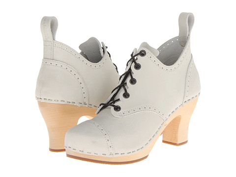 Swedish Hasbeens - 1910 Lace Up Shoe (Sand Beige Nubuck) Women's Dress Lace-up Boots