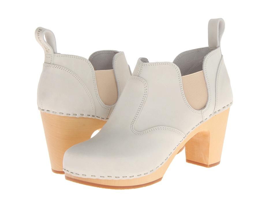 Swedish Hasbeens - Classic Chelsea Boot (Sand Beige Nubuck) Women's Zip Boots