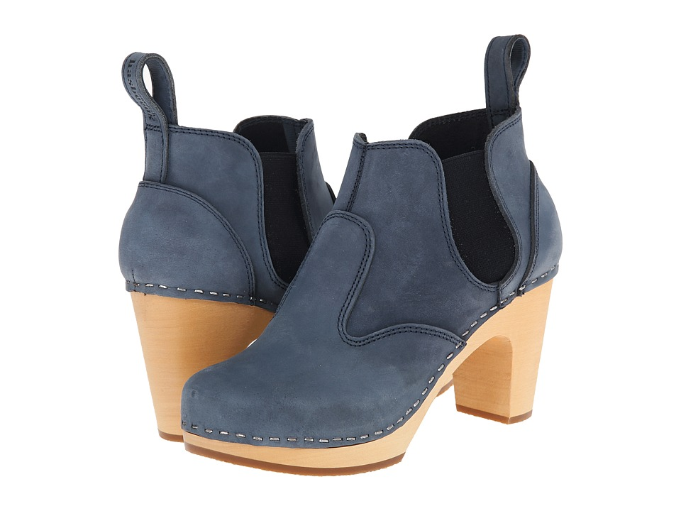 Swedish Hasbeens - Classic Chelsea Boot (Dark Blue Nubuck) Women