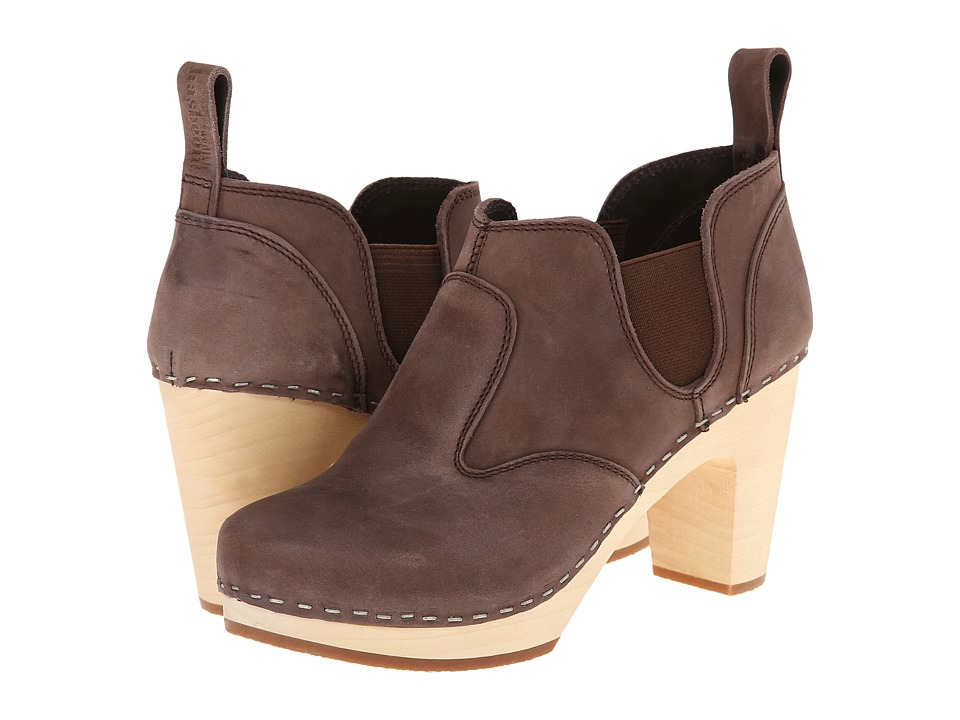 Swedish Hasbeens - Classic Chelsea Boot (Chocolate Brown Nubuck) Women