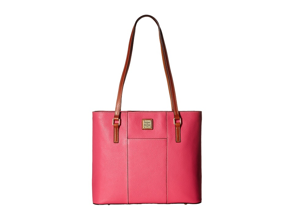 Dooney & Bourke - Lexington Shopper (Hot Pink w/ Tan Trim) Tote Handbags