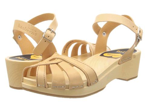 Swedish Hasbeens - Cross Strap Debutant (Nature) Women's Sandals