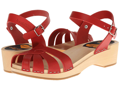 Swedish Hasbeens - Cross Strap Debutant (Red) Women's Sandals