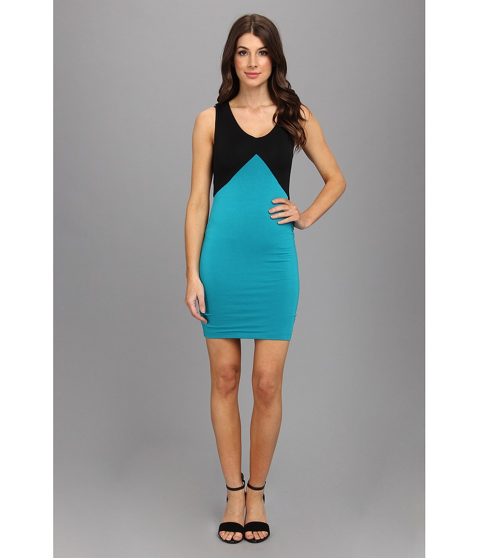 Tart - Grier Dress (Black/Turquoise) Women
