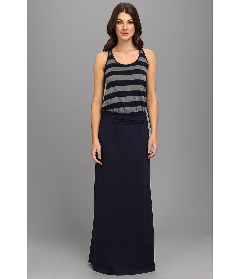 Tart - Delphine Maxi (Charcoal/Navy Stripes) Women's Dress