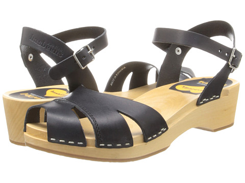 Swedish Hasbeens - Suzanne Debutant (Black) Women's Sandals