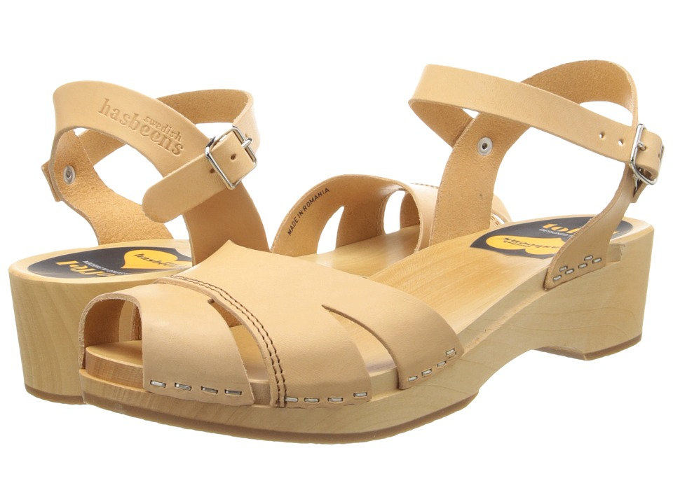 Swedish Hasbeens - Suzanne Debutant (Nature) Women's Sandals