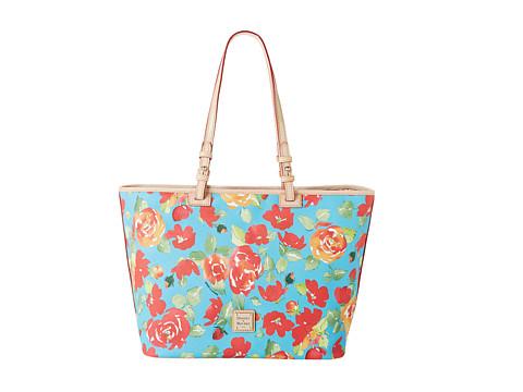 Dooney & Bourke Handbags Tan, Pink and Cream Small Ladder Striped Satchel - StyleCaster
