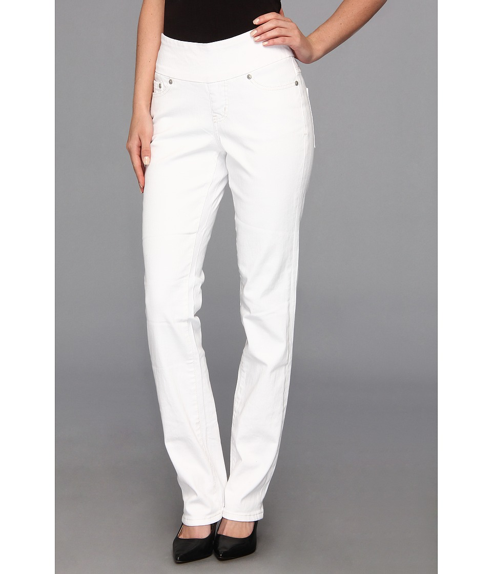 Jag Jeans - Peri Pull-On Straight in White (White) Women's Jeans
