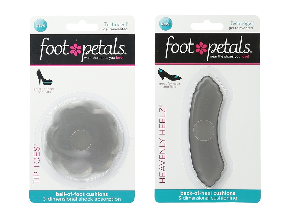 Foot Petals - Tip Toes Technogel 2-Pair Pack Heavenly Heelz Technogel 2-Pair Pack (Charcoal) Women's Insoles Accessories Shoes