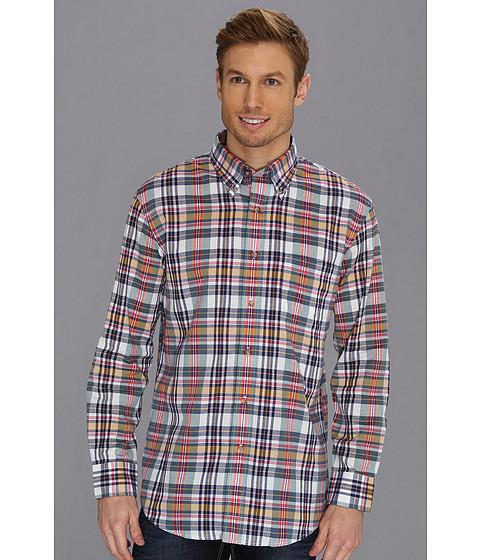 Pendleton - L/S Oceanside Shirt (Navy/Green/Raspberry Plaid) Men's Long Sleeve Button Up