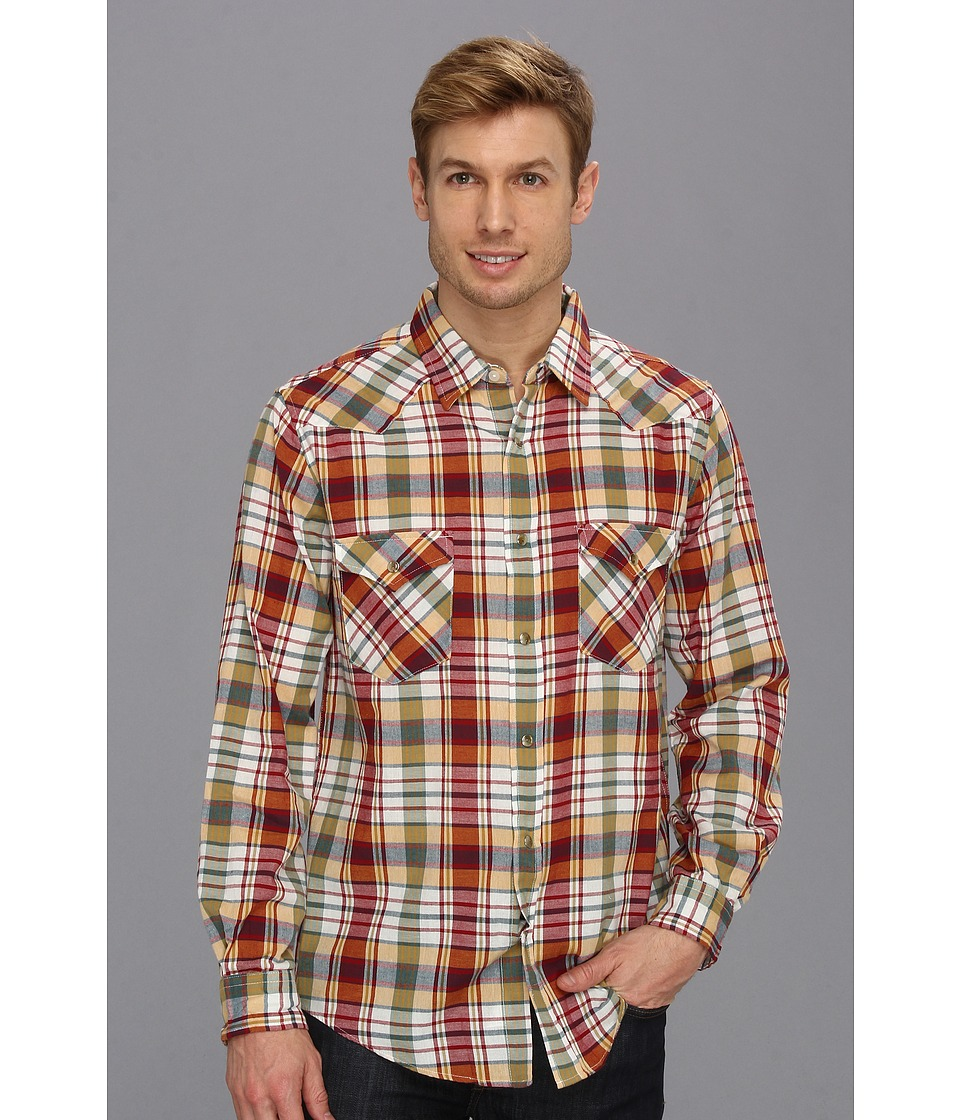 Pendleton - Fitted L/S Epic Shirt (Red/Yellow Plaid) Men's Long Sleeve Button Up