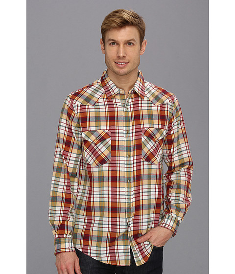 Pendleton - Fitted L/S Epic Shirt (Red/Yellow Plaid) Men